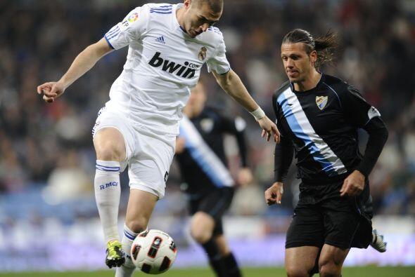 Así fue en su duelo ante el Málaga, que visitaba el Santiago Bernabéu co...