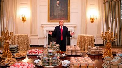 McDonald's en bandeja de plata: ¿qué dice de Trump el banquete de comida chatarra en la Casa Blanca?