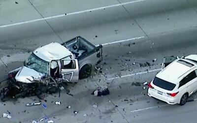 La conductora del pick up ingresó en sentido contrario a la autop...