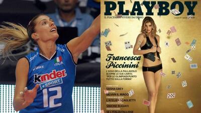 Francesca Piccinini, la diosa italiana del voleibol que posó para Playboy