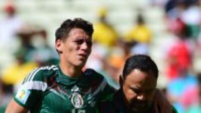 Héctor Moreno se lesionó en el juego contra Holanda en Brasil 2014.