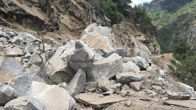 Toneladas de roca se derrumban de un peñasco en Yosemite