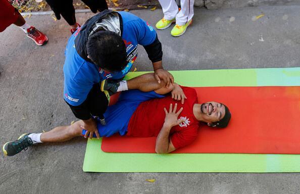 Manny Pacquiao inició sus entrenamientos en Filipinas de cara a su comba...