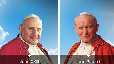 La canonización de los papas Juan XXIII y Juan Pablo II.