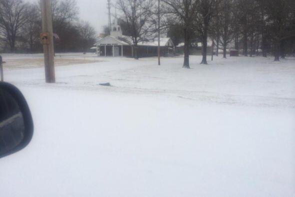 Un paisaje totalmente cubierto por la nieve es lo que nos muestra Mago J...