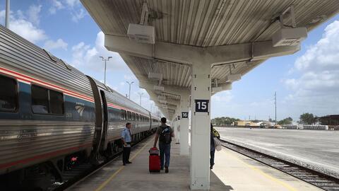 Un tren de pasajeros en Miami.