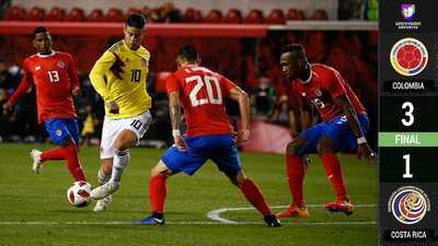 Colombia vence a Costa Rica en Nueva Jersey con doblete del debutante 'Cucho' Hernández