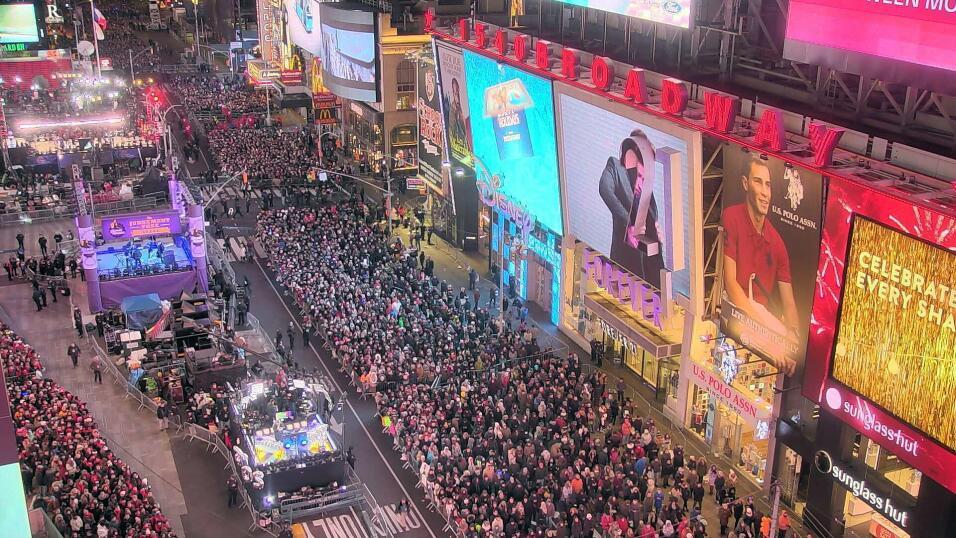 El mundo despide el año bajo fuertes medidas de seguridad yimes-square-n...