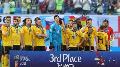 En fotos: La escasa celebración de Bélgica por el tercer puesto mundialista