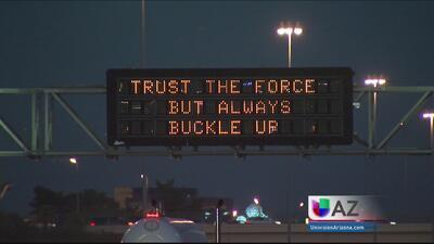 """Que la Fuerza te acompañe"" en autopistas de Phoenix"