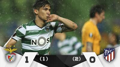 En fotos: Sporting le ganó al Atlético, pero no le alcanzó para pasar a semifinales de Europa League