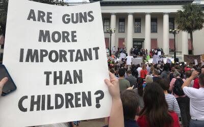 Protesta de los estudiantes de Parkland, en Tallahassee, capital de Flor...