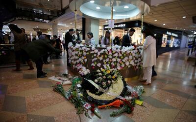 Colombianos rinden homenaje a las víctimas del atentado en Bogotá