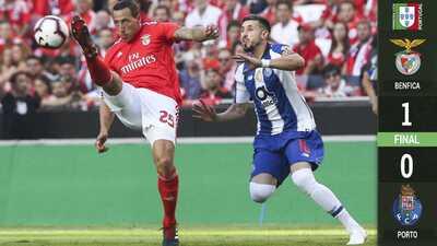 Benfica supera al Porto en el Clásico luso con Herrera y Tecatito en la cancha