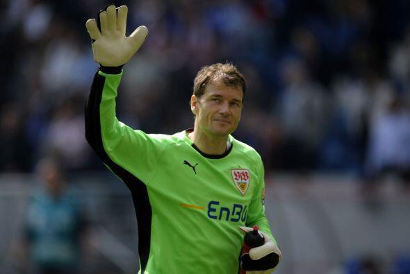 Jens Lehmann jugó su último partido como profesional con el Stuttgart en...
