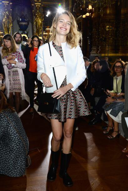 La modelo Natalia Vodianova fue otra de las bellezas que no se perdió de...