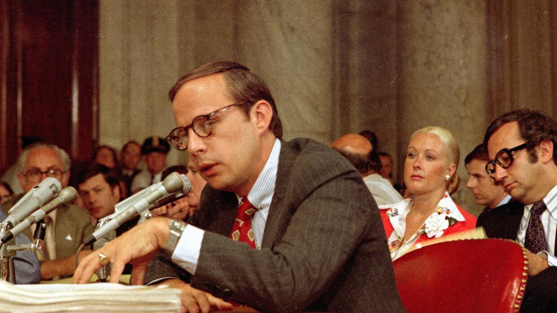 El testimonio de John Dean ante el Comité del Watergate, en junio de 197...