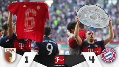 ¡Habemus campeón! Bayern golea al Aubgsburg y consigue su sexta copa consecutiva
