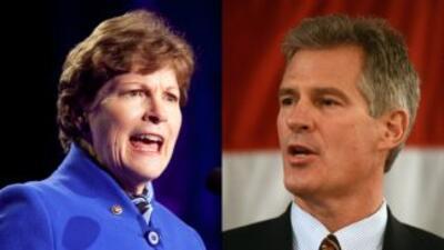 La senadora demócrata Jeanne Shaheen está en empate técnico con el repub...