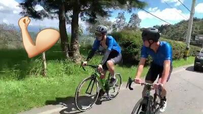 James, el ciclista: el 10 del Bayern pedaleó por las montañas de Colombia