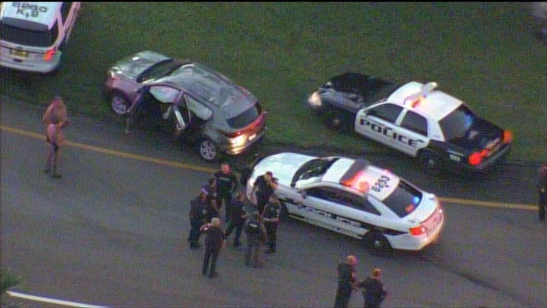 La policía arrestó a la menor luego que chocara contra un BMW cuando tra...