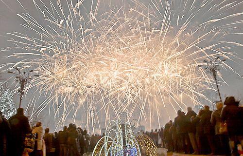 Fiesta en Bucarest, Rumania.