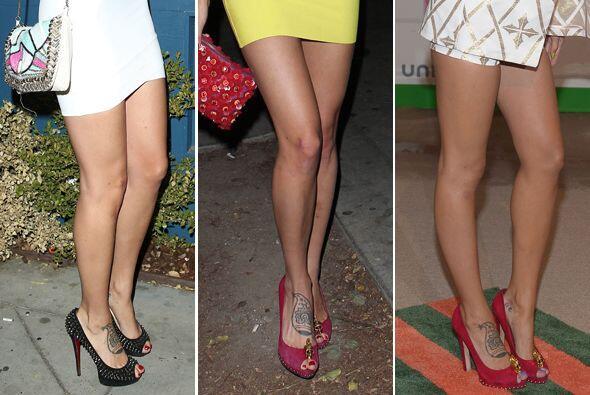 A la famosa mexicana le encanta vestirse con pequeños vestidos qu...