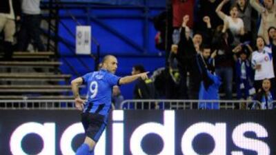 Di Vaio hizo dos goles ante Houston Dynamo.