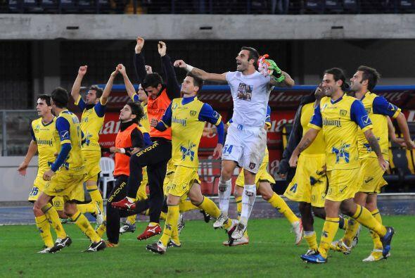 Por último el Chievo Verona también por la mínima le ganó a la Fiorentina.