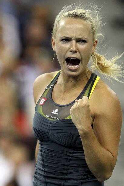 La bella danesa, Caroline Wozniacki está arrasando en el US Open...