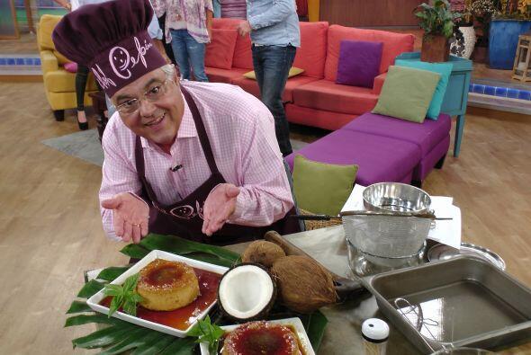 El Chef Pepín quiso endulzar este día tan especial con un delicioso flan...