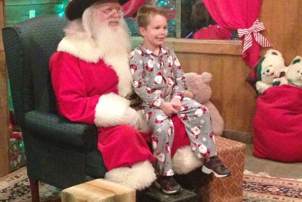 ¡Y también a Santa Claus!