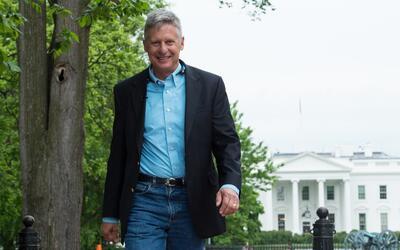 Gary Johnson, candidato presidencial del Partido Libertario