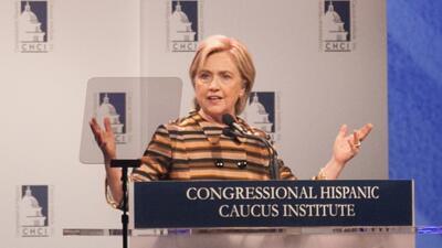 Hillary Clinton durante una gala del Insituto del Caucus Hispano del Con...