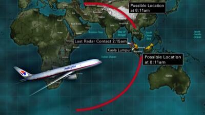 El avión de Malaysia Airlines, como buscar una aguja en un pajar