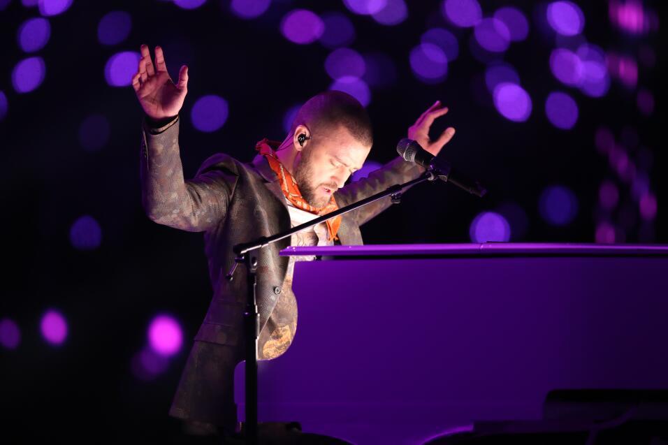 Justin Timberlake en el 'Half Time Show' del Super Bowl 2018