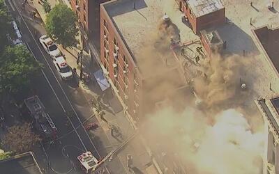 Masivo incendio provocó caos en Greenwich Village