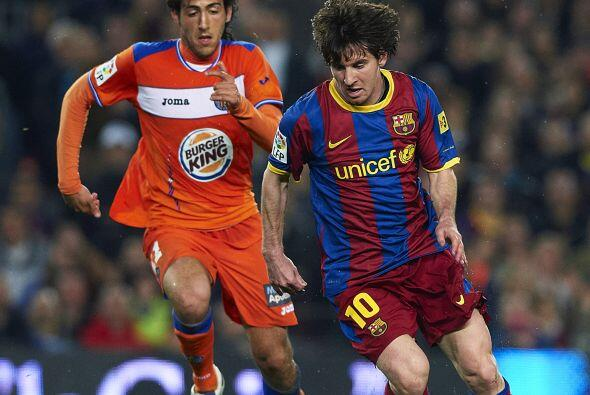 Messi puso el servició para el segundo gol blaugrana.