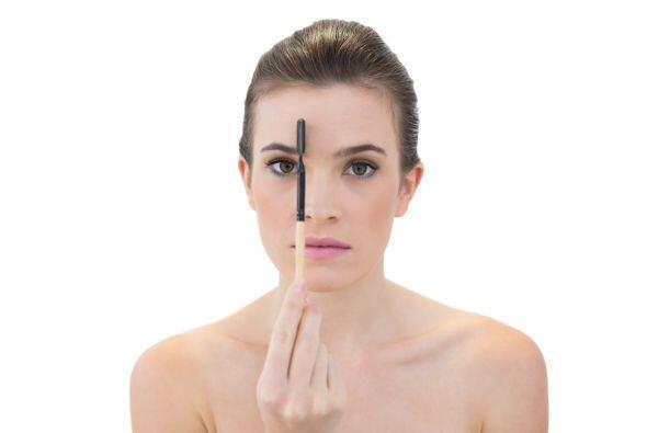 El comienzo. Coloca dos pinceles a los lados del tabique de tu nariz: es...