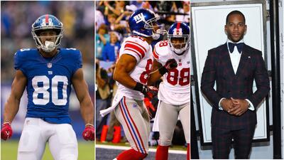 Víctor Cruz es recordado en la NFL por festejar sus touchdowns ba...