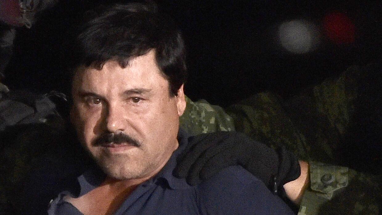 """Joaquín """"El Chapo"""" Guzmán, tras su recaptura."""