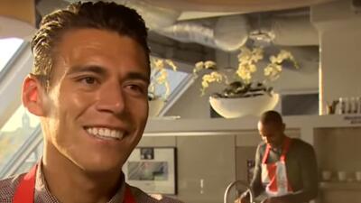 Héctor Moreno se puso a cocinar con el PSV