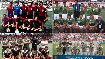 Pura nostalgia: así ha sido el paso del tiempo de la selección de México en cinco décadas