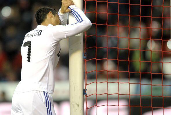 Cristiano Ronaldo no tuvo suerte para marcar algún gol en favor de los b...