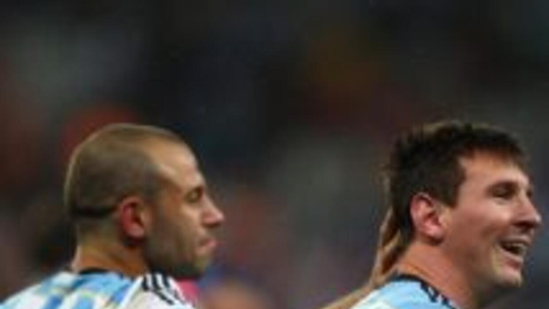 Messi necesito solo 30 minutos para hacer dos goles.