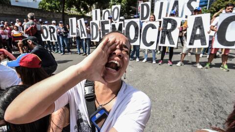 Las protestas callejeras se han tenido durante más de 100 días en Venezu...