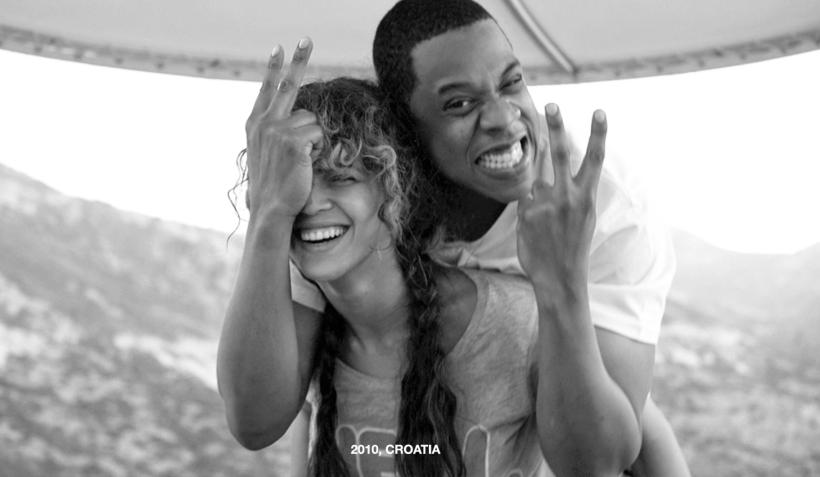 Beyoncé y Jay Z sonríen en sus vacaciones en Croacia, en 2010.