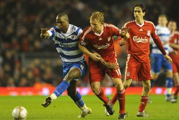 El Liverpool recibió al Reading de la segunda división en el partido de...