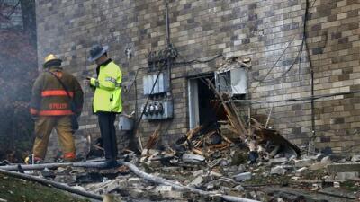 El desastre que dejó el accidente del jet en Ohio.