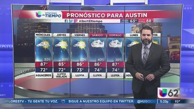 Calor y humedad, pero se acercan las precipitaciones a Austin